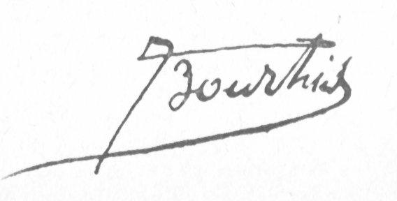 Jean Bourhis-Aviateur, Précurseur du Parachutisme BourhisSignature